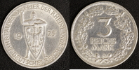 3 Mark 1925 A Weimar Rheinlande ss-vz, polliert  20,00 EUR  +  10,00 EUR shipping