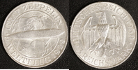 3 Mark 1930 D Weimar Zeppelin ss-vz  60,00 EUR  +  10,00 EUR shipping