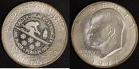 1 Dollar 1980/1971 USA Eisenhower Gegenstempel Lake Placid vz  55,00 EUR  +  10,00 EUR shipping
