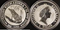 1 Dollar 1992 Australien 1 $ Kookaburra 1992 st st  27,00 EUR  +  10,00 EUR shipping