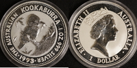 1 Dollar 1993 Australien 1 $ Kookaburra 1993 st st  32,00 EUR  +  10,00 EUR shipping