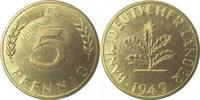 5 Pfennig 1949 F d 1949F BDL PP. . .250 Exemplare   195,00 EUR  +  8,00 EUR shipping
