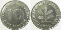 10 Pfennig 1969 F d 1969F Fe Cu/Ni plattiert 3,0 gr.!!!   850,00 EUR  +  8,00 EUR shipping