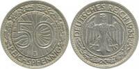 50 Pfennig 1933 J d 1933J ss/vz min. Rf. ss  /  vz  128,00 EUR  +  8,50 EUR shipping