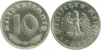 10 Pfennig 1947 D d 1947D Eisen Ni plattiert   1050,00 EUR  +  8,00 EUR shipping