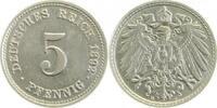5 Pfennig 1892 D  1892D vz/stgl !!! vz  / ...