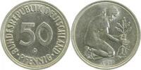 50 Pfennig 1971 D  1971D kleines Münzzeich...