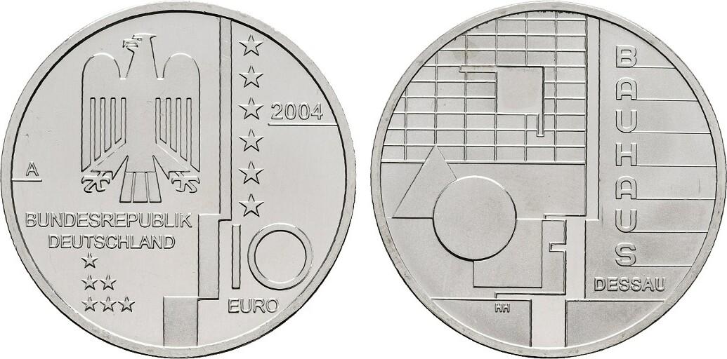 10 Euro 2004 A Brd Bauhaus Dessau Bu Ma Shops