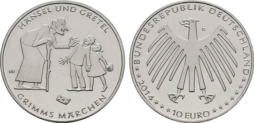 10 Euro 2014 G Brd Hänsel Und Gretel Bu Ma Shops