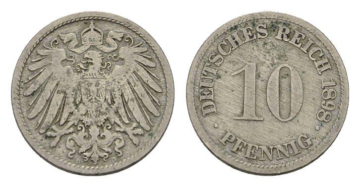 10 Pfennig 1898 D Deutsches Reich Ttb Ma Shops