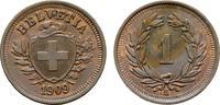 Ku.-Rappen 1909, B. SCHWEIZ  Fleck. Fast S...