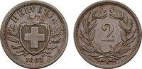 Ku.-2 Rappen 1883, B. SCHWEIZ  Vorzüglich-...