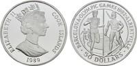 50 Dollars 1989. COOK ISLANDS Elizabeth II. seit 1952. Polierte Platte.  18,00 EUR  +  6,70 EUR shipping