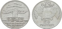 25 Piastres 1936. LIBANON Republik seit 19...