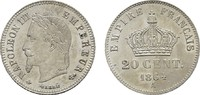 20 Centimes 1864, A. FRANKREICH Napoléon I...