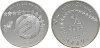 1/4 Euro 2002 FRANKREICH  Polierte Platte