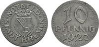 10 Pfennig 1920. BREMEN  Etwas rauh, sonst...