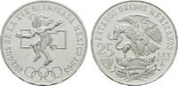25 Pesos 1968. MEXIKO Republik. Kl.Kratzer. Stempelglanz  12,00 EUR  +  6,70 EUR shipping