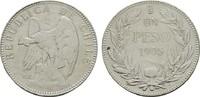 1 Peso 1905. CHILE Republik. Sehr schön +  25,00 EUR  +  6,70 EUR shipping