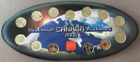 12 x 25 Cents + Medallion 2000. KANADA Eli...