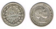 5 Cent 1868 Niederlande Niederlade 1868, 5...