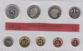 10,68 DM (1 Pfennig - 5 Mark) 1973 G Deuts...