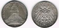 3 Mark 1913 Sachsen Kursmünze Sachsen, 3 M...