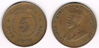 5 Cents 1920 Mauritius Mauritius Kursmünze...