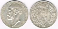 5 Kronen 1915 Liechtenstein Kursmünze 5 Kr...