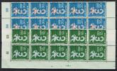 20 Werte, 12 Fr und 30 Fr 1958 Saarland Sa...