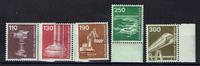 5 Werte 1982 BRD BRD, Mi-Nr. 1134-38, post...