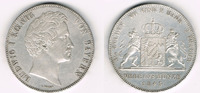 Doppeltaler - 3 1/2 Gulden 1843 Bayern Dop...