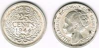 25 Cents 1944 Niederlande Niederlade 1944,...