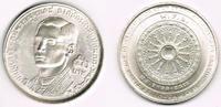 50 Baht 1971 Thailand Silbergedenkmünze 20...