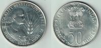 50 Rupien 1975 Indien Silbergedenkmünze FA...