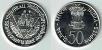 50 Rupien 1974 Indien Silbergedenkmünze FA...