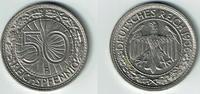 50 Pfennig 1936 F Weimarer Republik Weimar...