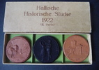 3 Porzellanmedaillen (2. Serie) 1922 Schwä...