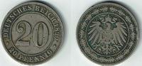 20 Pfennig 1890 G Deutsches Kaiserreich Ka...