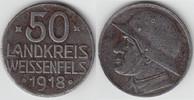 50 Pfennig 1918 Notmünzen / Notgeld Weißen...