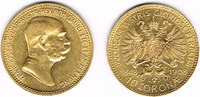 10 Kronen 1908 Österreich Kursmünze 10 Kro...