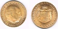 50 Franken 1961 Liechtenstein Goldmünze 50...