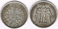 5 Francs 1873 A Frankreich Frankreich, Sil...
