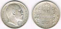1 Rupie 1905 Indien india, 1 rupee, edward VII., like scan fast vorzügl... 24,00 EUR  +  9,00 EUR shipping