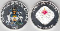 2 Dollars 1995 Bahamas Bahamas, Silbermünz...