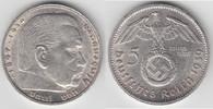 5 Reichsmark 1939 G Drittes Reich Drittes ...
