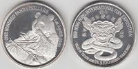 Silbermedaille  100 Dollars  1989 Hong Kon...