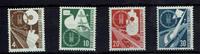 4 bis 30 Pfennig (4 Werte) 1953 BRD BUND, ...