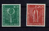 10 + 20 Pfennig (2 Werte) 1955 BRD BUND, M...