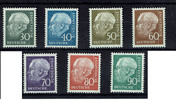 30 bis 90 Pfennig (7 Werte) 1955 BRD BUND,...